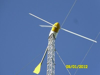 Bergey wind turbine 10k complete system with 140 ft guyed lattice tower.