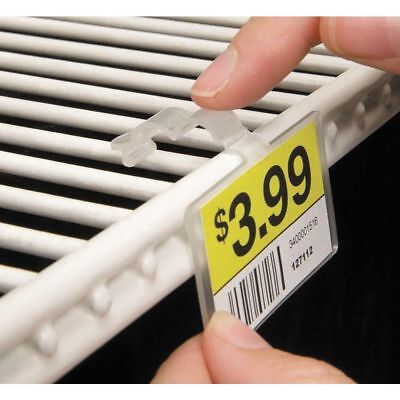 FFR Fold-N-Hold Clear Plastic Double-Wire Shelf Label Holder With Snap Lock