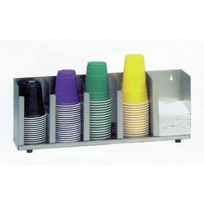 DISPENSE-RITE CTLD-15A 3-Section Adjustable Lid Organizer with Straw Cube - 19
