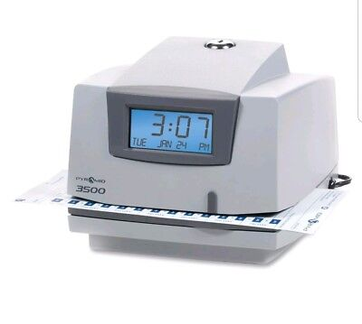 Mechanical Time Clock and Document Stamp, Pyramid, 3500 (No Key)