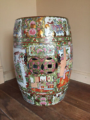 Fine Chinese Rose Garden Stool Seat or Stand