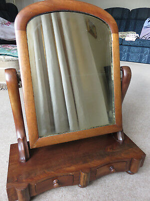 Antique Victorian vanity swing mirror with 2 drawers