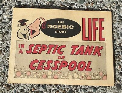 Vtg ROEBIC Septic System Advertising Cartoon Comic Booklet Pamphlet Life FUNNY!