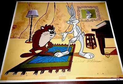 Bugs Bunny Tasmanian Devil Cel Look No Meat Warner Brothers Special Proof Cell