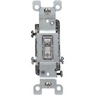 Leviton 1463-LHC Clear Lighted Toggle Switch