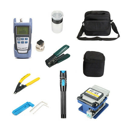 Fiber Optic FTTH Tool Kit Set Power Meter FC-6S Optical Cleaver Finder Practical
