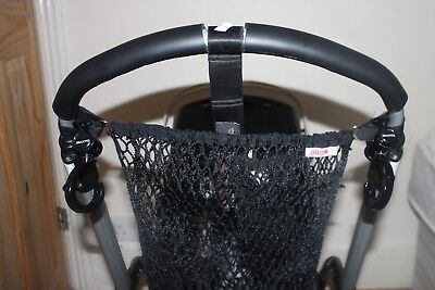 Net shopping bag with velcro attachment, fits Bugaboo and other prams
