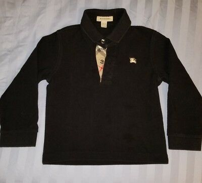 Good condition Auth Burberry kids tee long sleeve polo unisex size 4