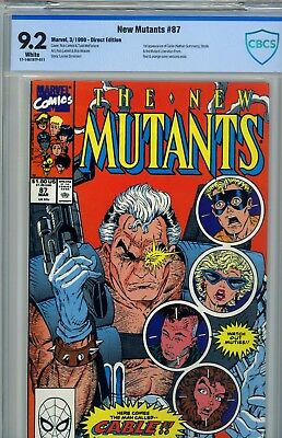 The New Mutants #87 CGC/CBCS 9.2 (Mar 1990 Marvel) First Cable White Pages