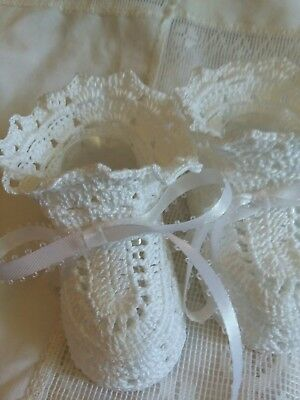 Heirloom Christening Booties