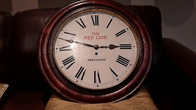large school /pub fusee wall clock....14in dail