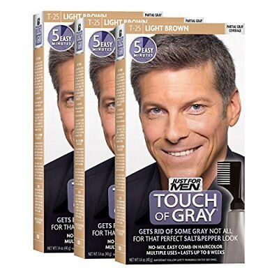 Just For Men Touch Of Gray Comb In S Hair Color Light Brown