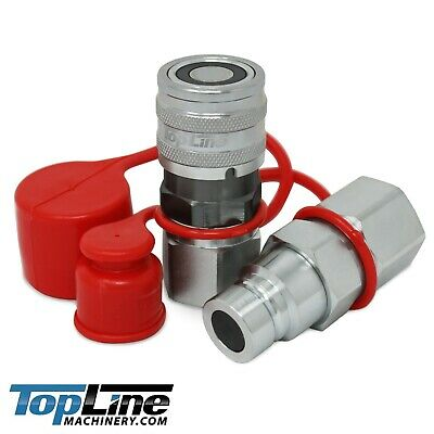 TL30 3/4 NPT Thread 1/2 Flat Face Hydraulic Quick Connect Coupler Set Skid Steer