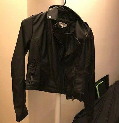 Reference Women S Leather Jacket Sz Sm Fully Lined Blush Pink Color