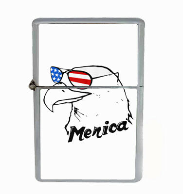 Merica Eagle Rs1 Flip Top Dual Torch Lighter Wind Resistant