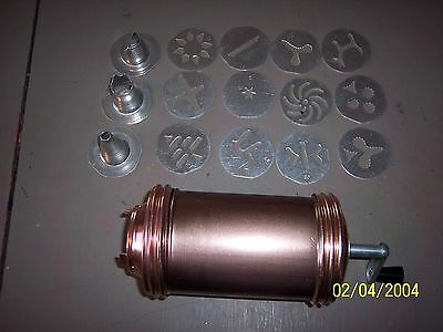 Copper and Aluminum Cookie Press awesome condition