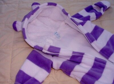 Thick PLUSH Sherpa BABY Blanket GIRL Sleeper BOY Snow SUIT Sz 3 - 6 M UNISEX