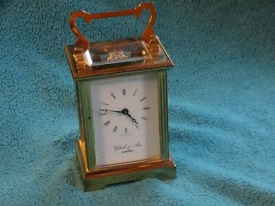 vintage carriage clock  - gluck and sons -