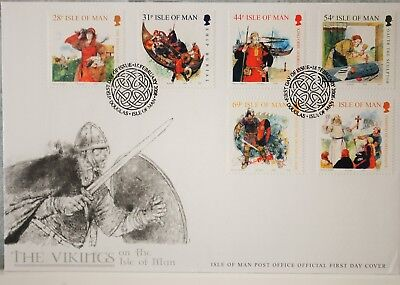 Isle Of Man The Vikings On The Isle Of Man  First Day Cover 2008