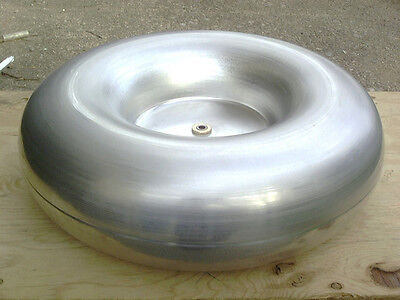 "13"" x 4"" Toroid for Tesla Coil, Spun Aluminum High Voltage"