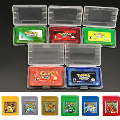 Games Card Carts For Pokemon GBC/GBA GameBoy Collection Kids Adults Gifts