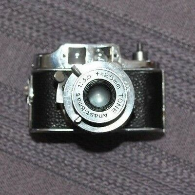 Vintage Tone TOKO Subminiature Camera and case - Made in occupied Japan