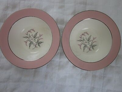 Lot Of 2 Vintage Barclay Cavalier Eggshell 9.5 Inch Serving Bowls