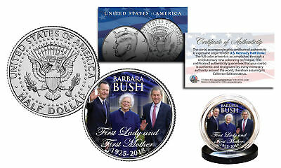 BARBARA BUSH First Lady & First Mother 2018 Kennedy Half Dollar Coin President