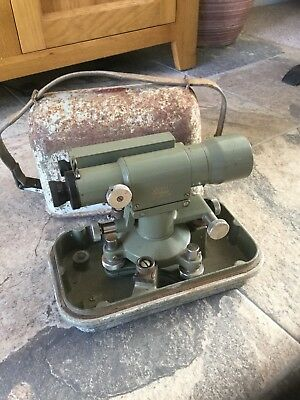 Wild Heerbrugg N2 Theodolite Surveying/Engineers Level & Container