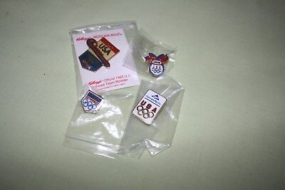 Lot of Different 1992 Olympic Pins- Kelloggs Bobsled-Kraft- P & G- generic