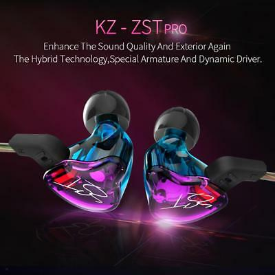 KZ-ZST Dynamic Hybrid Dual Driver Earphone Set HIFI Bass Headset In Ear Earbuds