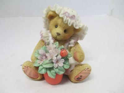 """Cherished Teddies... Violet  156280  """"Blessings Bloom When You Are Near"""""""