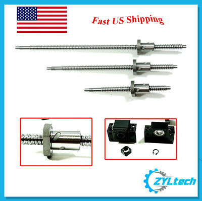 ZYLtech Precision (TRUE C7) 16mm Ball Screw 1605 w/ BF/BK12 End Support - 350mm