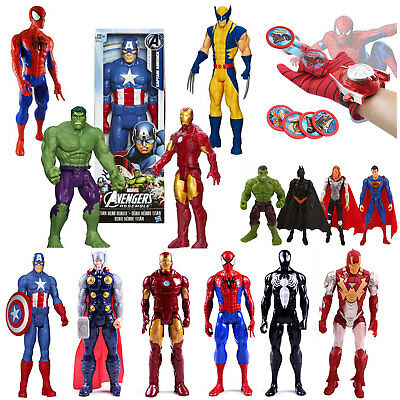 Spiderman Ironman Captain America Marvel Avengers Superhero Action Figures Toys