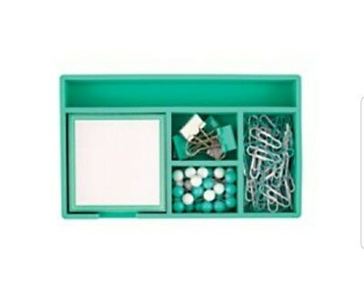 Desk Organizer Teal Green and Soft~New