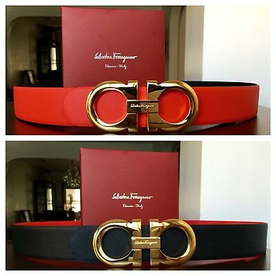 New Authentic Reversible Ferragamo Belt 110 cm fits 38-40 waist