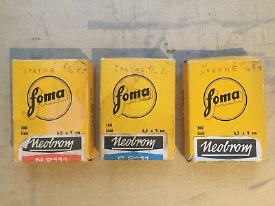Vintage FOMA Photographic Paper Czech 1970's-1980's 4 opened packets