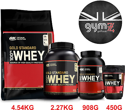 Optimum Nutrition GOLD STANDARD 100% WHEY High Quality protein 450g - 4.5kg
