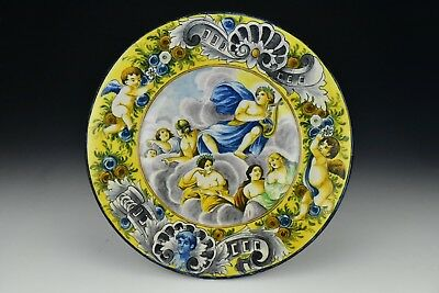 Antique Italian Faience Pottery Charger 19th Century