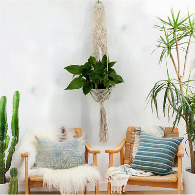 40'' Pot Holder Macrame Plant Hanger Hanging Planter Basket Jute Rope Braided