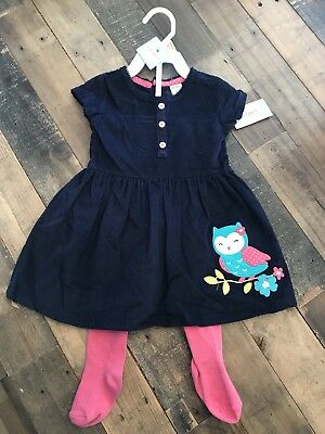 NWT Carters Girls Baby 12 Months 2-piece Dress Outfit Brand New With Tags