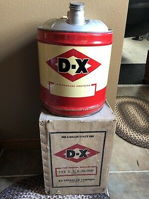 Vintage 5 Gallon DX Products Oil Can