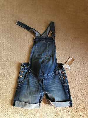 Maternity H&M Blue Overall Shorts Size 10