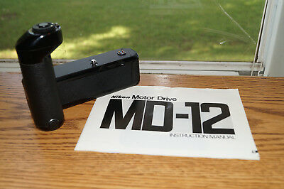 Nikon MD-12 Winder Motor Drive (for FA, FE, FE2, FM, FM2, FM3a) w/ Manual