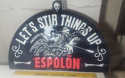 "Espolon Tequila ""Lets Stir Things Up"" Metal / Tin Sign - New!"