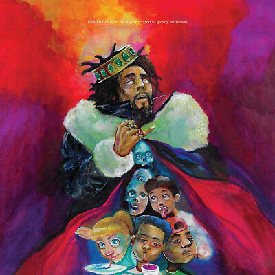 "J. Cole KOD Album Poster 32x32"" 24x24"" 18x18"" New Music 2018 Hip Hop J Cole Silk"