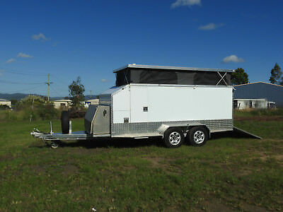 Custom built 4WD off Road Camper Trailer / Toy Hauler