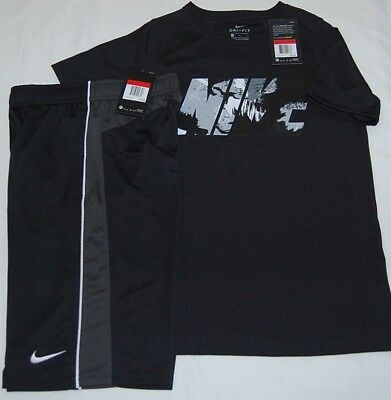 New With Tag Boys Nike Dry  Dri Fit T-Shirts & Shorts Outfit  Size L