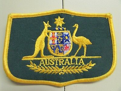 """Very Nice Australian Coat of Arms Patch (4.5"""" x 3.25"""")"""