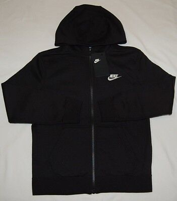 New With Tag  Boys Nike Front Zip hoodie Black (805499-010) S,M ( choose size )